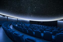 A spectacular stars projection at the planetarium