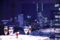夜景のレストラン