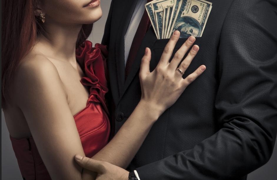 男性の持つお金を狙う女性