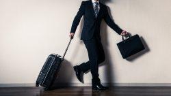 スーツケースとビジネスマン,出張