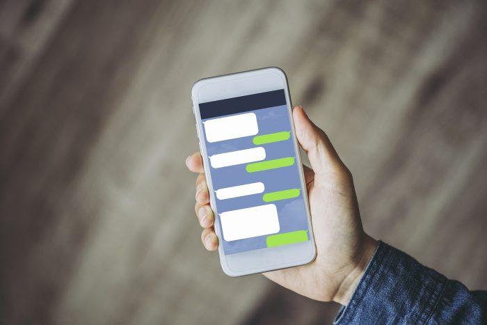 スマートフォンのトークアプリ