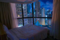 香港のホテルから見える夜景
