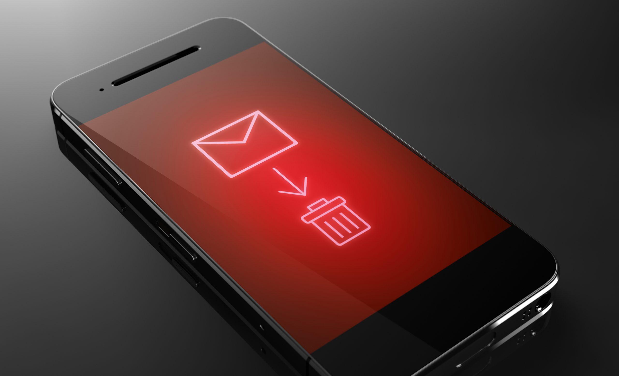 Delete message - custom smart phone concept