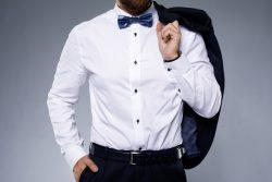 Stylish man wearing bow tie