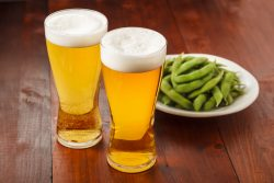 ビールと枝豆 Beer and Green soy beans